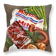 Monday's Tradition - Red Beans And Rice Throw Pillow