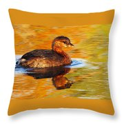 Monet Grebe Throw Pillow