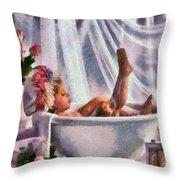 Monet Hunny Bunny Throw Pillow