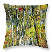 Monet Lives On Throw Pillow