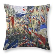 Monet: Montorgeuil, 1878 Throw Pillow by Granger