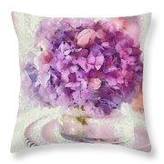 Monet Purple Pedestal Throw Pillow