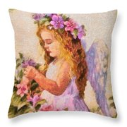 Monet Silked Angel Throw Pillow