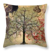 Monet Splashed Petals Throw Pillow