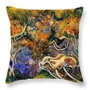 Monet Under Water Throw Pillow