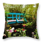 Monet's Garden Throw Pillow