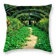 Monet's Gardens At Giverny Throw Pillow