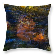 Monet's Leaves Throw Pillow