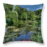 Monet's Lily Pond At Giverny Throw Pillow