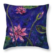 Monet's Lily Pond I Throw Pillow