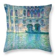 Monet's Palazzo De Mula In Venice Throw Pillow