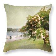 Monet's Tree Throw Pillow