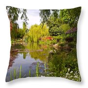 Monet's Water Garden 2 At Giverny Throw Pillow
