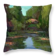 Monet's Water Lily Pond Throw Pillow