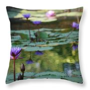 Monet's Waterlily Pond Number Two Throw Pillow
