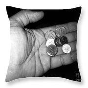 Money Always Funny Throw Pillow
