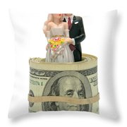 Money And Happiness Throw Pillow