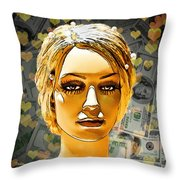 Money Love Throw Pillow