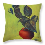 Money Plant - Still Life Throw Pillow