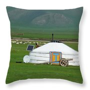 Mongolian Living Throw Pillow