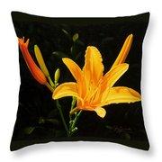 Monikas Lily Throw Pillow