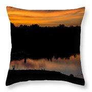 Monika's Sunset Throw Pillow