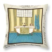 Monique Bath 2 Throw Pillow by Debbie DeWitt