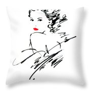 Monique Variant 1 Throw Pillow by Giannelli
