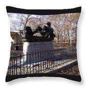 Monitor Sailor Monument Throw Pillow