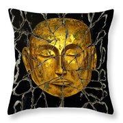 Monk In Meditation Throw Pillow