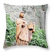 Monk Of St Goar Throw Pillow