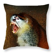 Monkey Fangs Throw Pillow