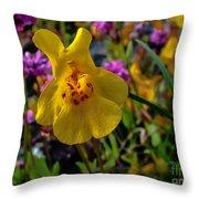 Monkey Flower Throw Pillow