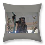 Monkey Tree  Throw Pillow
