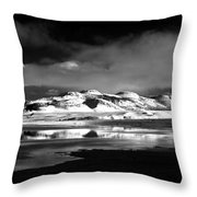 Mono Craters Throw Pillow