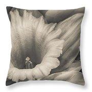 Mono Daffodil Throw Pillow