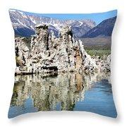 Mono Lake And Sierra Mtns Throw Pillow