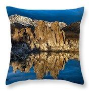 Mono Lake In March Throw Pillow