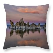 Mono Lake Sunset Throw Pillow