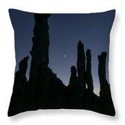 Mono Lake Tufas Silhouette Throw Pillow