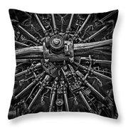 Mono Radial Throw Pillow