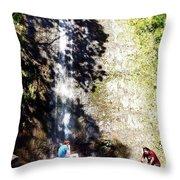Monoa Waterfall  Throw Pillow