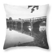 Monocacy Aqueduct, 1892 Throw Pillow