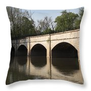 Monocacy Aqueduct On The C And O Canal In Maryland Throw Pillow
