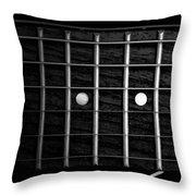 Monochrome Fretboard Throw Pillow
