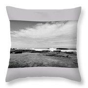 Monochrome Tides Throw Pillow