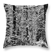 Monochrome Winter Wilderness Throw Pillow