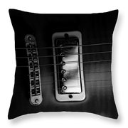 Monochrome Yamaha 2 Throw Pillow