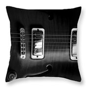 Monochrome Yamaha Throw Pillow