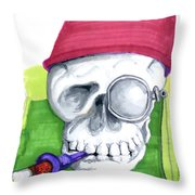 Monocle And Fez Throw Pillow